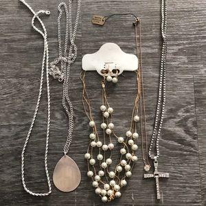 5 piece jewelry necklace lot